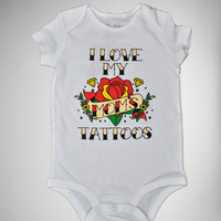 'I Love My Mom's Tattoos' Infant Snapsuit