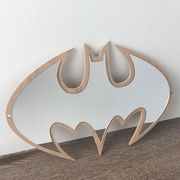 Ins Nordic Style Batman Pattern Children Room Decoration Mirror Home Furnishing Acrylic Wall Sticker Wall Decals Decor