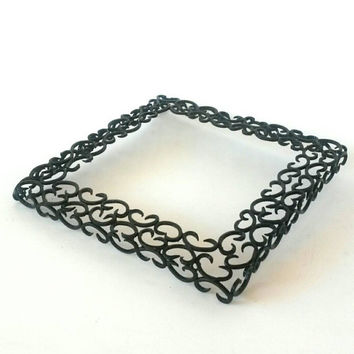 Wrought Iron Plant Stand Black Vintage Pot Holder Garden Decor Potted Plant Square Patio or Hotplate Cooling Rack Cake Stand Cressey Maxwell
