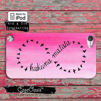 Hakuna Matata Lion King Inspired Infinity Symbol Sign Case iPod Touch 4th Generation or iPod Touch 5th Generation Rubber or Plastic Case
