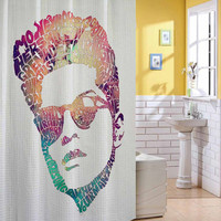 brunoo mars galaxy nebula shower curtain