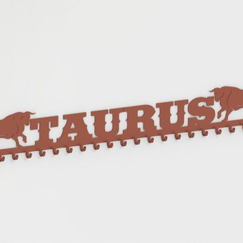 Sport Medals Hooks and Keys Holders with Taurus Bull