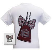MSU Mississippi State Bulldogs CowBell Big Bow Girlie Bright T Shirt