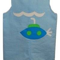 Funtasia Too - Seersucker Shortall - Turquoise (Only 3M Remaining)