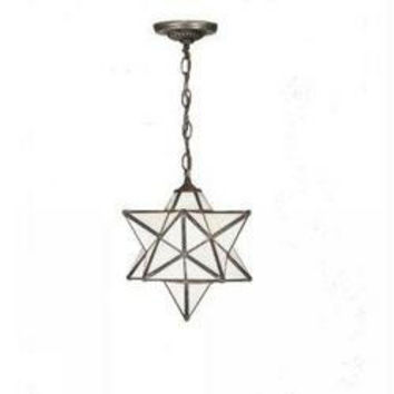12 Inch W Moravian Star Pendant Ceiling Fixture
