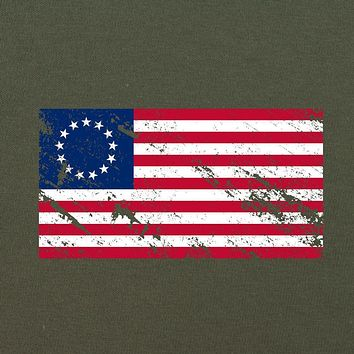 Vintage Betsy Ross Flag Distressed T-Shirt