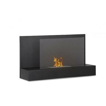"Ignis Ater BK - 35"" Black Wall Mounted Ethanol Fireplace (WMF-026)"