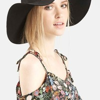 Women's Topshop Floppy Wool Felt Hat