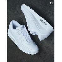 NIKE AIR MAX 90 fashion ladies men running sports shoes sneakers F-PS-XSDZBSH Pure white