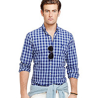 Polo Ralph Lauren Plaid Poplin Shirt - Blue Plaid