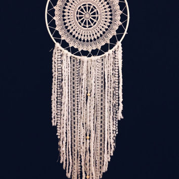 12 inch White Dream Catcher