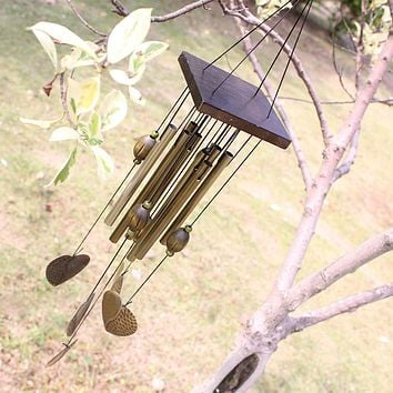 Love Heart 8 Tubes Outdoor Living Yard Garden Decor Wind Chimes Lenght 55cm Chinese Windchime