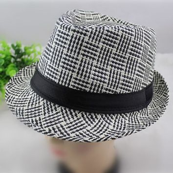 FEDORA HAT British Style Spring summer Men Women Straw Hats Soft f80db41aab4f