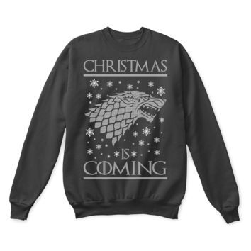 PEAPINY Game Of Thrones Christmas Is Coming House Stark Ugly Sweater