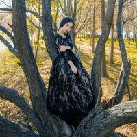The Dark Fairy Lace Gown