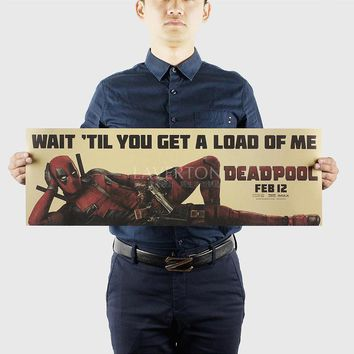 Deadpool Dead pool Taco  D/classic Hollywood movie/kraft paper/bar Wall stickers /Retro Poster/decorative painting igraphy 72.5x24cm AT_70_6