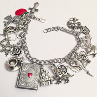 Ultimate Once Upon a Time Charm Bracelet - Fairytale Jewelry - OUAT ABC Inspired Charm Bracelet