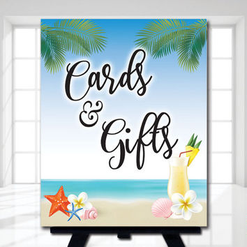 Printable Gifts & Cards Wedding Sign, Beach Wedding sign | Printable Beach Bridal Shower Sign |  8x10 | Instant Download | JPG