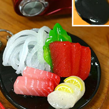 Realistic Miniature Food Cell Phone Strap (Sashimi)