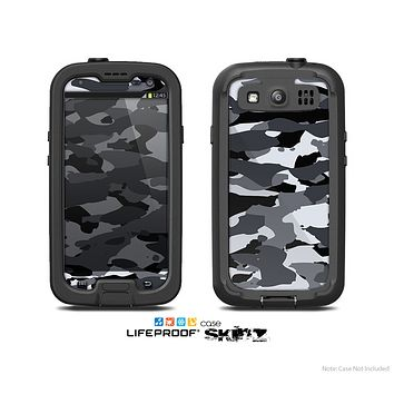 The Traditonal Snow Camo Vector Skin For The Samsung Galaxy S3 LifeProof Case