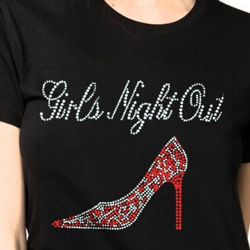 Bling T-Shirts | Girl's Night Out l-Rhinestones-SHIRT Shop Here!
