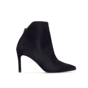 FURRY LEATHER HIGH HEEL ANKLE BOOT - Woman - New this week | ZARA United States