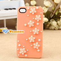 3D iphone case 3D flower phone4 case iphone4s case iphone 5 case cell phone cases pearl iphone case holiday gift