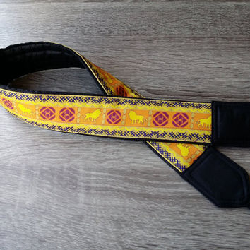 Lions Camera Strap. For Him. Birthday Gift. Mens Gift. Photo Accessories