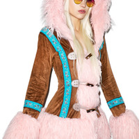 J VALENTINE Eskimo Kisses Mohair Jacket LIGHT PINK