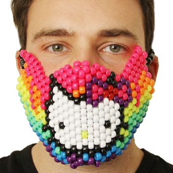 Rainbow Hello Kitty Kandi Mask
