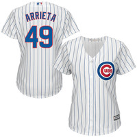 Jake Arrieta Majestic Chicago Cubs Women's White Cool Base Player Jersey