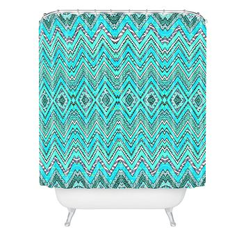 Ingrid Padilla Turquoise Whim Shower Curtain