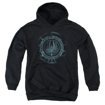 Battlestar Galactica (New) - Faded Emblem Youth Pull Over Hoodie