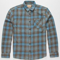 Free Nature Old School Wash Mens Flannel Shirt Blue  In Sizes