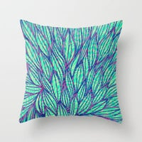 Natural leaves Throw Pillow by Claudia Owen | Society6