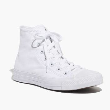 DCKL9 Converse? Unisex Chuck Taylor All Star High-Top Sneakers in White Monochrome