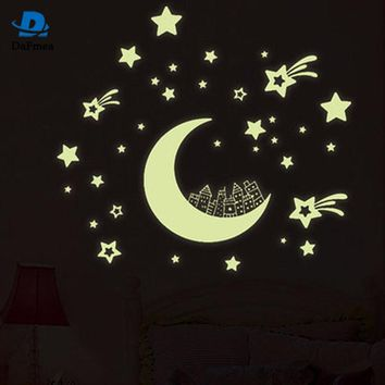 Fluorescent 3D Star Wall Stickers Kid's Bedroom Sticker Glow in the Dark Stars Home Decoration