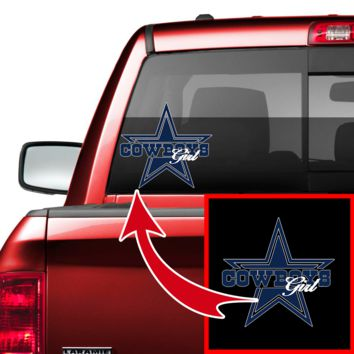 Cowboys Girl & Dallas Girl Car/Truck Decal