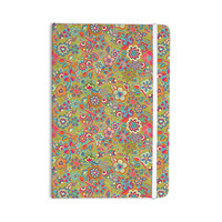 """Julia Grifol """"My Butterflies & Flowers in Green"""" Rainbow Floral Everything Notebook"""