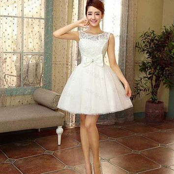 Suosikki Short Prom Dress 2015 Sleevesless Evening Dress special occasion dresses Short Lace Up Prom Dresses Red Champagne