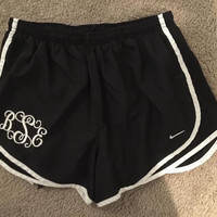 Monogrammed Nike Running Shorts, Monogrammed Running Shorts, Womens Running Shorts, Embroidered Running Shorts, Norts, Athletic Shorts