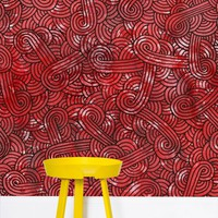 'Red and black swirls doodles' Wallpaper by Savousepate on miPic