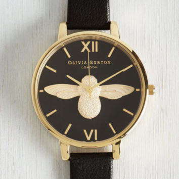Bee There in a Minute Watch in Gold by Olivia Burton from ModCloth