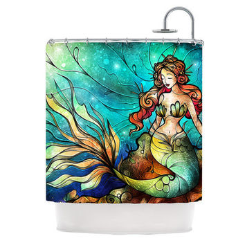 Serene Siren Little Mermaid Under the Sea Shower Curtain Mandie Manzano Kess Inhouse