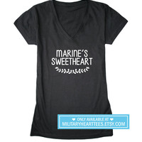 marine's sweetheart shirt, marine wife shirt, marine girlfriend shirt, marine clothing, marine love, I love my marine, marine tshirt