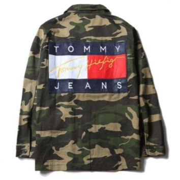 Tommy Hilfiger Men Denim Cardigan Jacket Coat