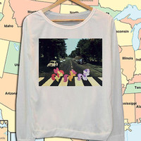 My Little Pony abbey Road crew neck sweatshirt pullover long sleeved