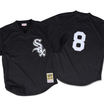 DCCKFC9 Mitchell & Ness Bo Jackson 1993 Authentic Mesh BP Jersey Chicago White Sox In Black