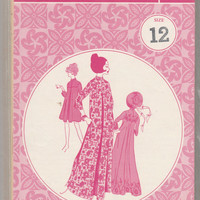 Patterns Pacifica 3015 Misses Hawaiian Muumuu Dress in Two Lengths Long or Short Skirt Size 12 Bust 34 Asian Maxi-Dress Caftan Uncut Pattern