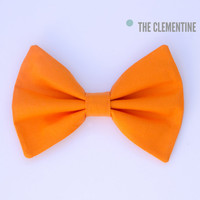 Orange Hair Bow, Hair Bow, Bow, Fabric Hair Bow, Hair Clip, Fabric Bow